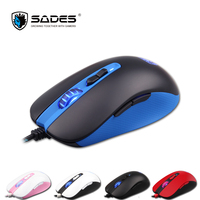 SADES S15 Musket 3000DPI Mouse Wired 5 Buttons Opto electronic Gaming Mouse For computer / PC / Laptop Pink