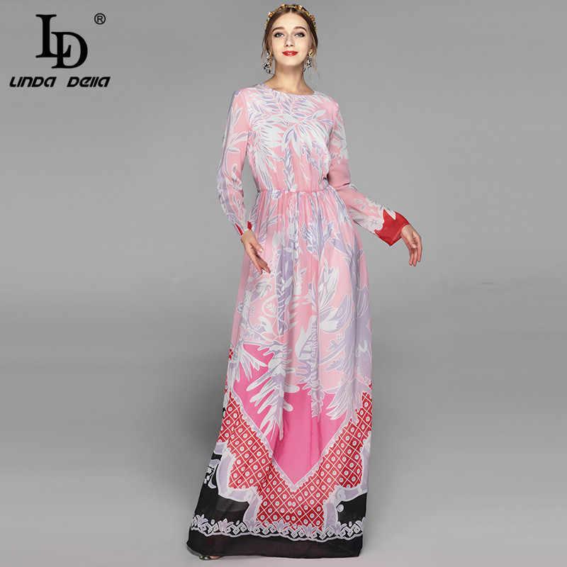 Chất Lượng cao Mới Thương Hiệu Thời Trang Đầm Maxi Áo Nữ Dài Tay Tầng Dài Boho Đi Biển Lộng Lẫy In Hoa Đầm