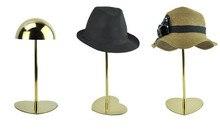 10 шт. Металлического титана золото Шляпу дисплей, отображающий стенд польской hat держатель дисплея стойки хранителя крышки стенд