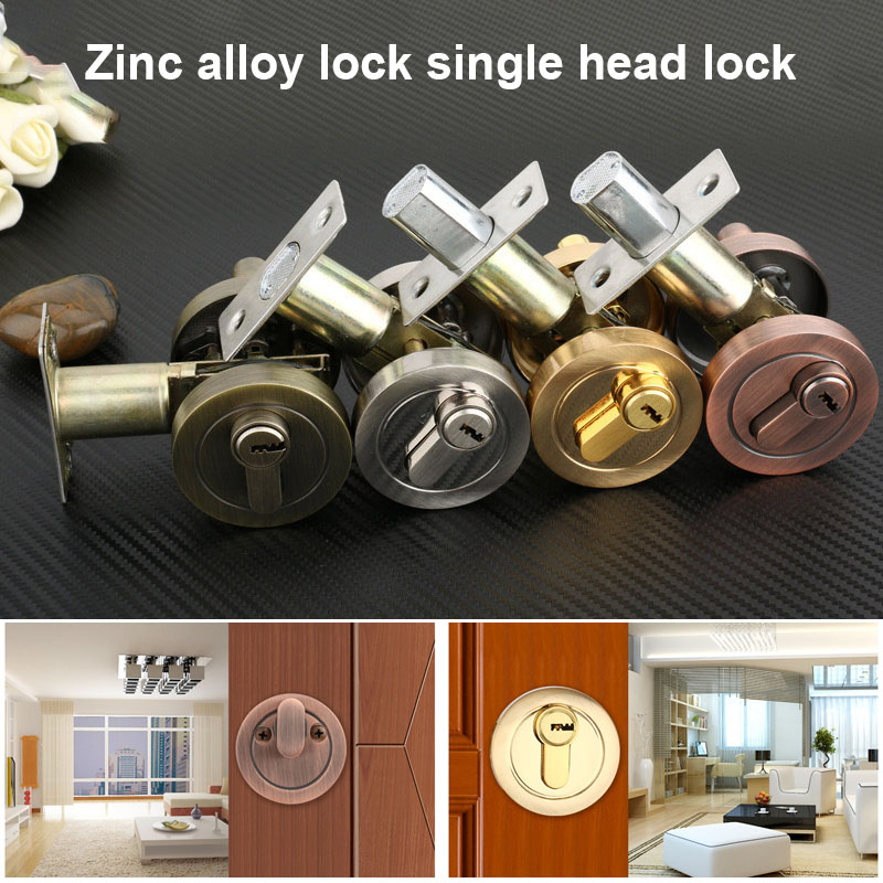 Zinc Alloy Door Locks Single Head Lock Auxiliary Lock Home Indoor Door Locks ALI88 professional handheld thermal imaging camera ht 04 portable infrared thermometer ir thermal imager infrared imaging device