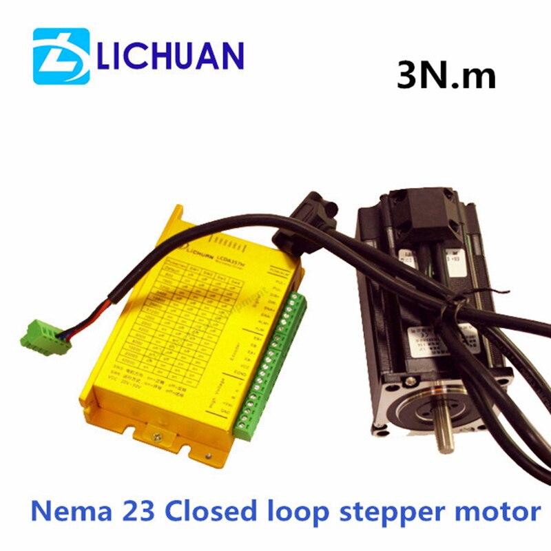3 0Nm 3 Phase Nema 23 Hybrid Servo 57 Closed Loop Stepper Motor Matched Servo Driver