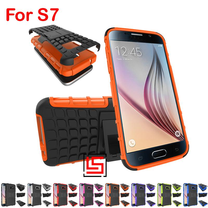 Cheap Armor Rugged Hybrid Hard PC TPU ShockProof Phone Case Cover For Samsung Galaxy Galaksi S7 SM G930F G930 SM-G930 Black