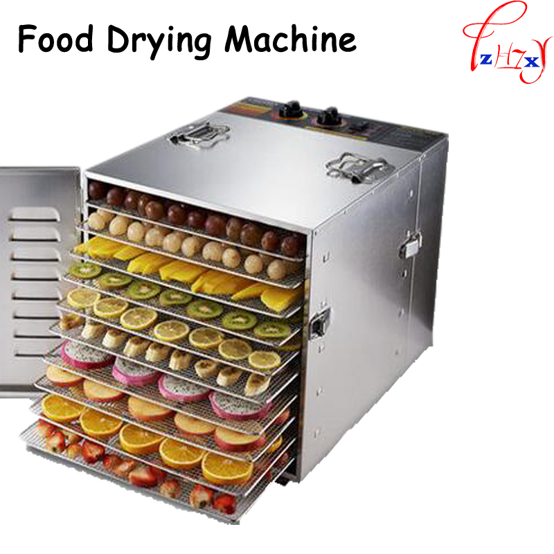 10 layers stainless steel Food Dehydrator commercial Fruits dryer and vegetables Meat drying machine Snacks food Dryer 110/220V