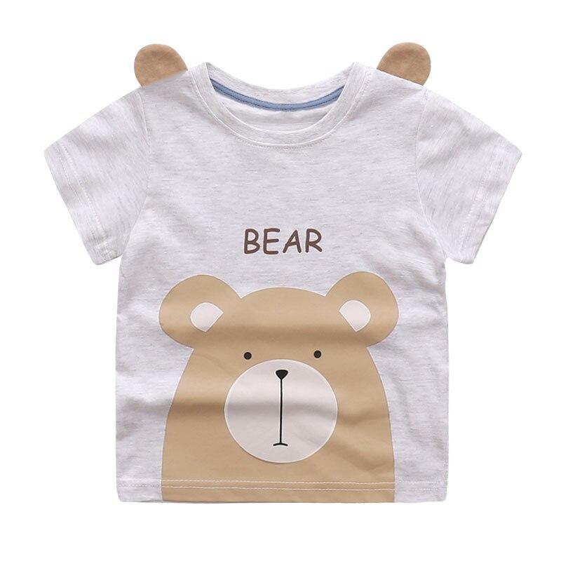 Cute Summer New Girls Boy T-shirt Children's Bottom Kids Lovely 3D Animal Cartoon Shirt Baby Clothes, Dinosaur/ Bear/ Elephant