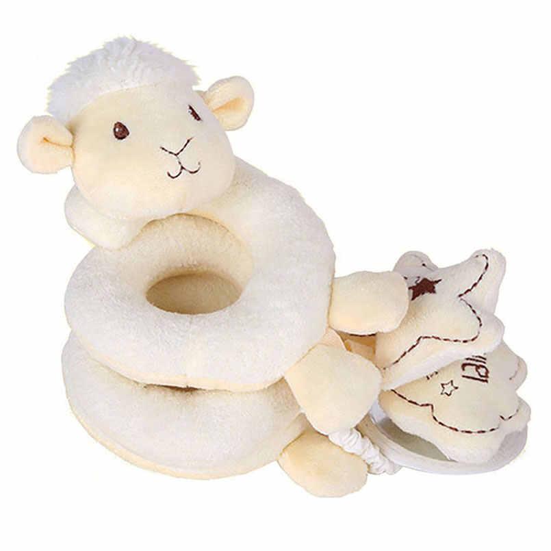 25 colores bebé cama cochecito sonajero colgante bebé cuna coche peluche oveja elefante Animal mordedor Musical sonajero giratorios Juguetes