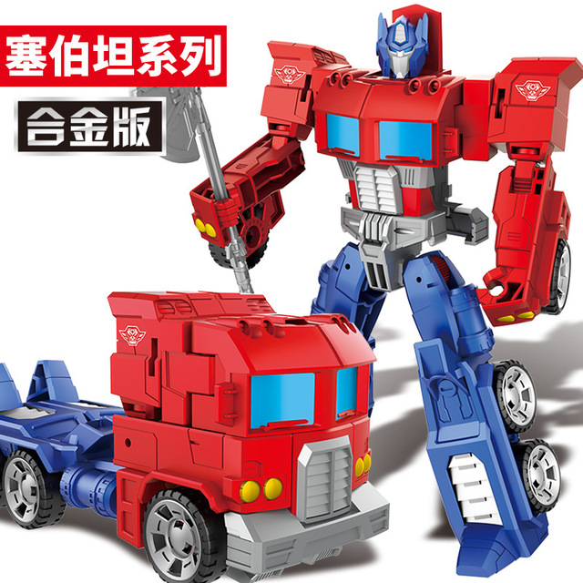 19CM Alloy Version Robots Movie Characters Model Toys Figures Car Robot Action Deformable Toys Boy Gifts