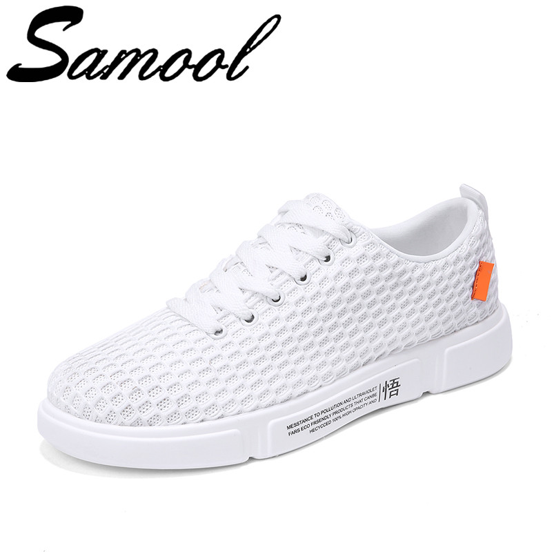 Summer New Mens Mesh Breathable Casual Shoes Round Head Solid Board Shoes Flats Sneakers Male Walking Shoes Zapatos Hombre Sx3
