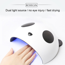 Cute panda design UV LED 36W / 24W for Nail Dryer machine  Led nail art beauty curing all gels with USB Manicure tools