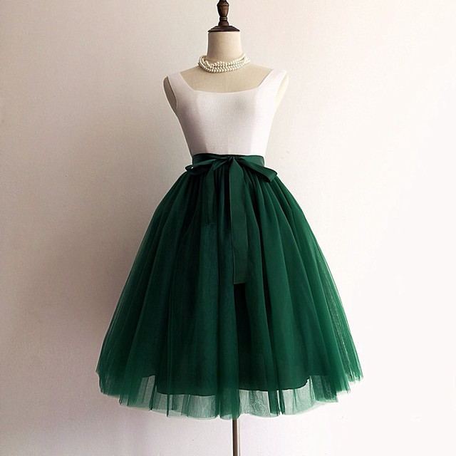 Tulle skirt Gothic 5 layers