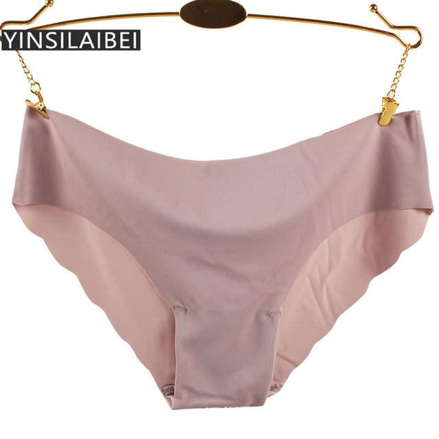 5f5b487c5 Calcinhas Plus Size Feminina Calcinhas Sem Costura das Mulheres de Seda  gelo Cuecas Fio Dental Underwear