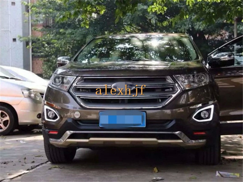 July King LED Daytime Running Lights Case for Ford EDGE 2015~ON, LED Front Bumper Light DRL With Fog Lamp Cover, 1:1 Replacement july king led daytime running lights drl led front bumper fog lamp case for ford focus iii 2011 13 y type 1 1 replacement
