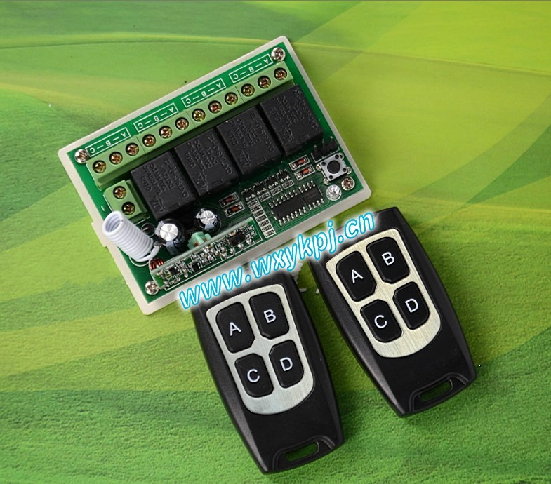 DC12V 4CH Wireless Remote Control Switch System smart home controller Receiver transmitter and receiverl