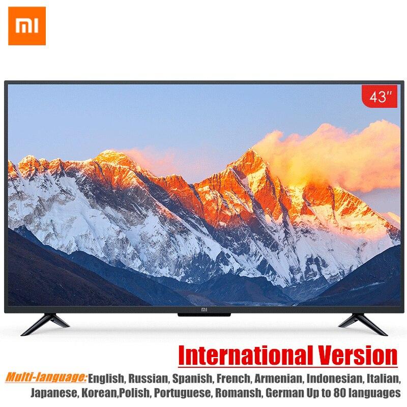 Глобальная версия Xiao mi Smart tv 4A 43 дюйм(ов) mi светодио дный LED Full HD Android tv 8,0 Ultimate PatchWall 1 ГБ 8 ГБ ультра-светодио дный яркий светодиодный дисплей