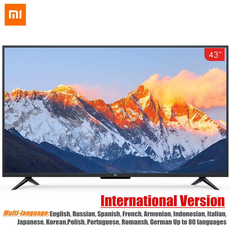 Mondial Version Xiao mi télévision intelligente 4A 43 pouces mi led Full HD Android TV 8.0 Ultime PatchWall 1 GB 8 GB Ultra-led lumineuse Affichage