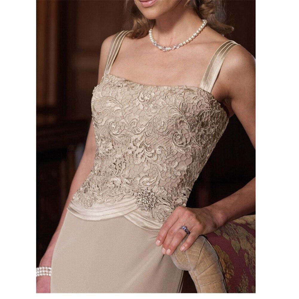 Robes formelles longue dentelle mère de la mariée robes avec veste mère de la mariée robes avec veste mère du marié - 2