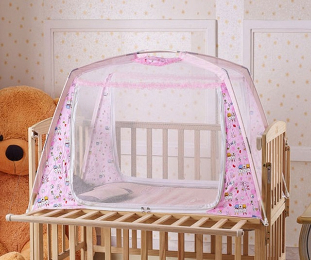 Portable Baby Kids Toddler Nursery Bed Canopy Crib Cot Mosquito Net Folding Play Tent 65 x : nursery canopy - memphite.com