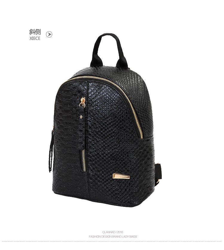 43145f2149 SUQI Pu leather Women Backpack Fashion Casual Codra Small Iron T-type mini  backpacks bag for women 2018 Mochila Women Backpack