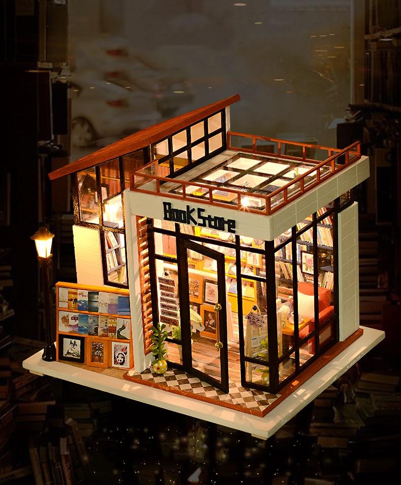Book Store DIY Dollhouse 3D Miniature Bookshop
