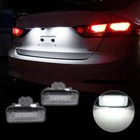 VODOOL High Quality 2pcs Car Light Error Free 3528MSD LED License Plate Lights Auto Lamp For