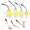 1pc Car COB T10 + Festoon Dome Panel Light 16 chips/24 chips/36 chips/48 chips Car LED Reading light #CA5081