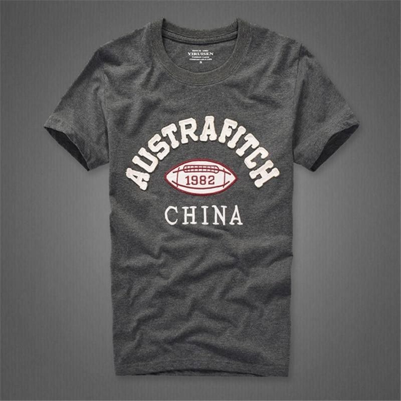 Camiseta t-shirt katoenen O-hals brief man merk - Herenkleding - Foto 1