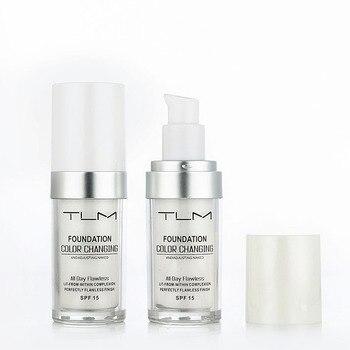 Жидкая основа для макияжа TLM 30 мл, Волшебная меняющая цвет жидкая основа для макияжа, покрытие для лица телесного цвета, консилер, долговечный макияж, тональный крем для кожи