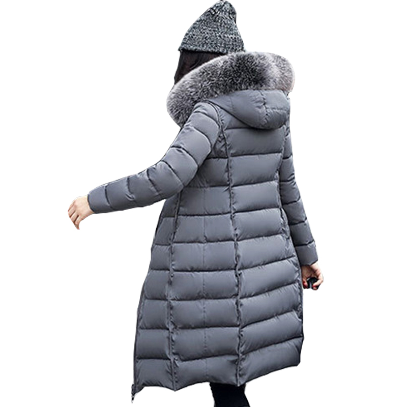 New Women Winter Coat 2017 Fashion Hooded Thickening Super warm Medium long Parkas Long sleeve Loose Big yards Jacket Hot 2017 new winter fashion women down jacket hooded thickening super warm medium long coat long sleeve slim big yards parkas nz131