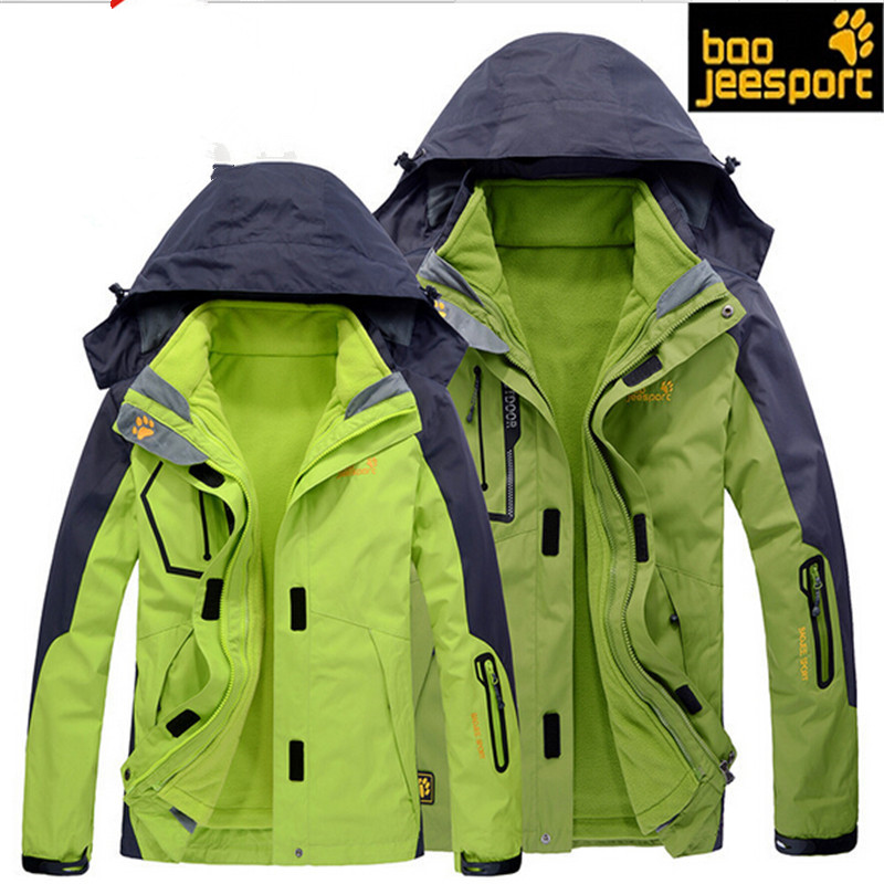 aa037924a Outdoor 3 in 1 Free Shipping waterproof windproof men women Hot Sale jacket  couple breathable sport