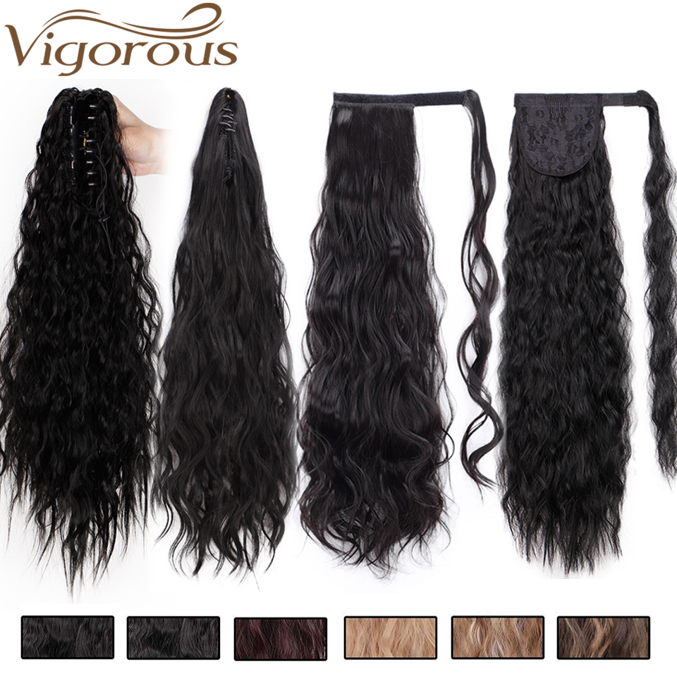 Vigorous Long Corn Wave Ponytail Synthetic Magic Paste -3605