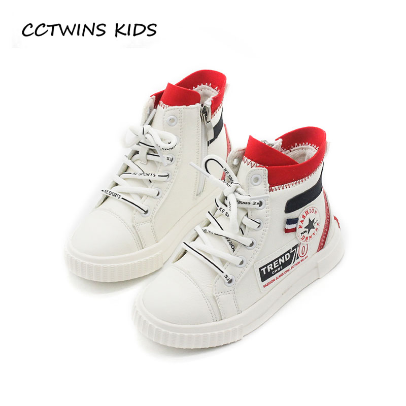 CCTWINS KIDS 2018 Autumn Baby Girl Fashion High Top Sneaker Children Pu Leather Shoe Boy Brand Casual Sport Trainer FH2300 cctwins kids 2017 spring high top usb rechargeable lighted girl brand trainer baby boy shoe led children fashion sneaker f1312