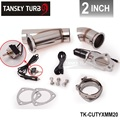 "2"" ELECTRIC EXHAUST CATBACK/DOWNPIPE CUTOUT/E-CUT OUT VALVE SYSTEM KIT W/O REMOTE TK-CUTYXMM20"