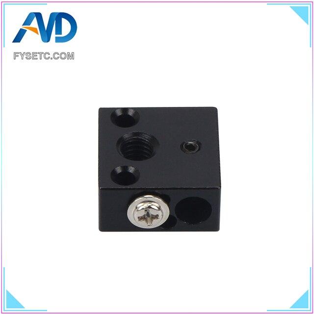 Best Price 5pcs 3D Printer Parts Aluminium Heat Block 20*20*10 MM For Creality CR-10 CR-10S 3D Printer MK7/MK8/MK10 Extruder Hotend Kit