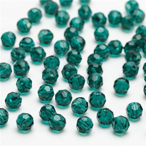 3, 4, 6, 8 мм разноцветные Круглые Стеклянные бусины для изготовления ювелирных изделий, аксессуары для рукоделия, Круглые граненые разделительные бусины, Z105 - Цвет: Z113