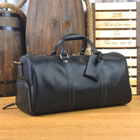 Genuine Leather men travel bag Carry on Luggage bags men Leather Travel Duffel Weekend bag big Tote Handbag large shoulder Bags