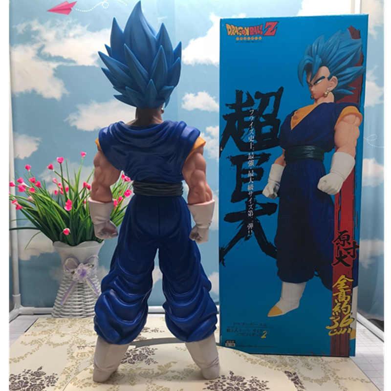Cabelo Azul de Grandes Dimensões De Dragon Ball Z Super saiyan Goku PVC Action Figure Collectible Modelo Toy 40 CENTÍMETROS CAIXA P690