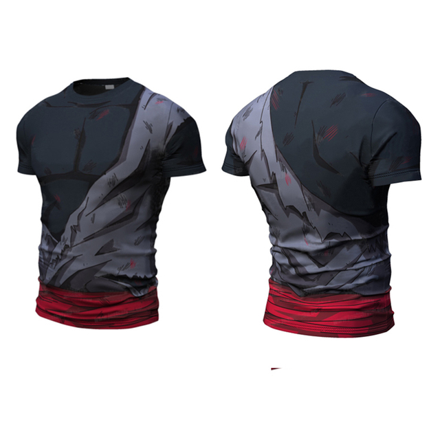 2016 Ball Z Hombres 3D Dragon Ball Z Camiseta vegeta goku verano estilo jersey 3d tops fashion clothing camisetas Plus