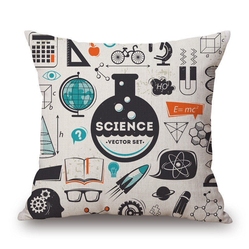 18'' Square Math Formula Cushion covers Science Chemistry Throw Pillow Covers Decorative Pillow Cases Customized Drop Shipping 17