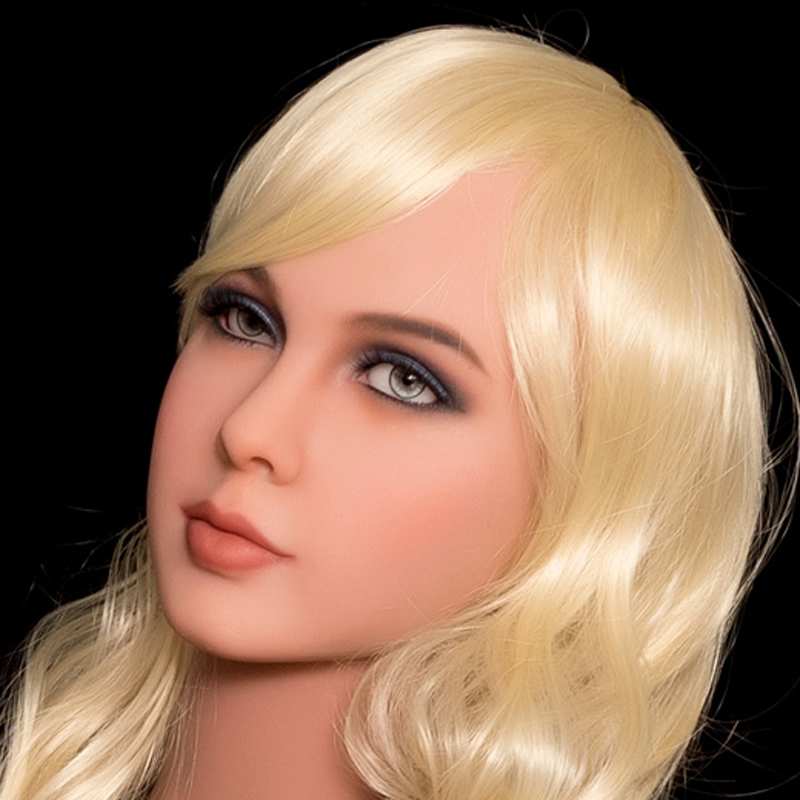 New WMDOLL Brown Sex Doll Head For Japanese Real Doll Silicone Adult Sex Dolls Oral Sex Toy For Men new top quality silicone sex doll head for real human dolls real doll adult oral sex toy for men
