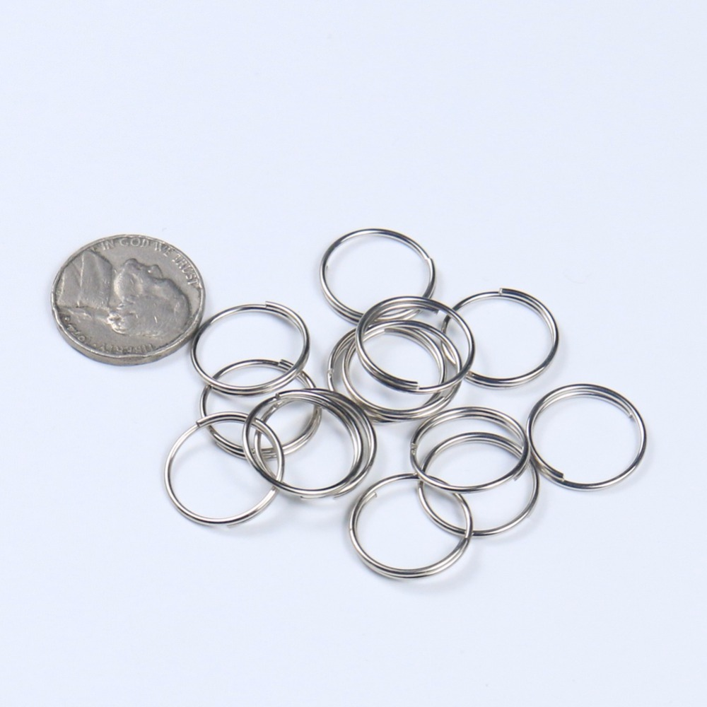 50 PC 12MM SILVER RING CONNECTOR CHANDELIER PARTS CHAIN CRYSTAL HANGING