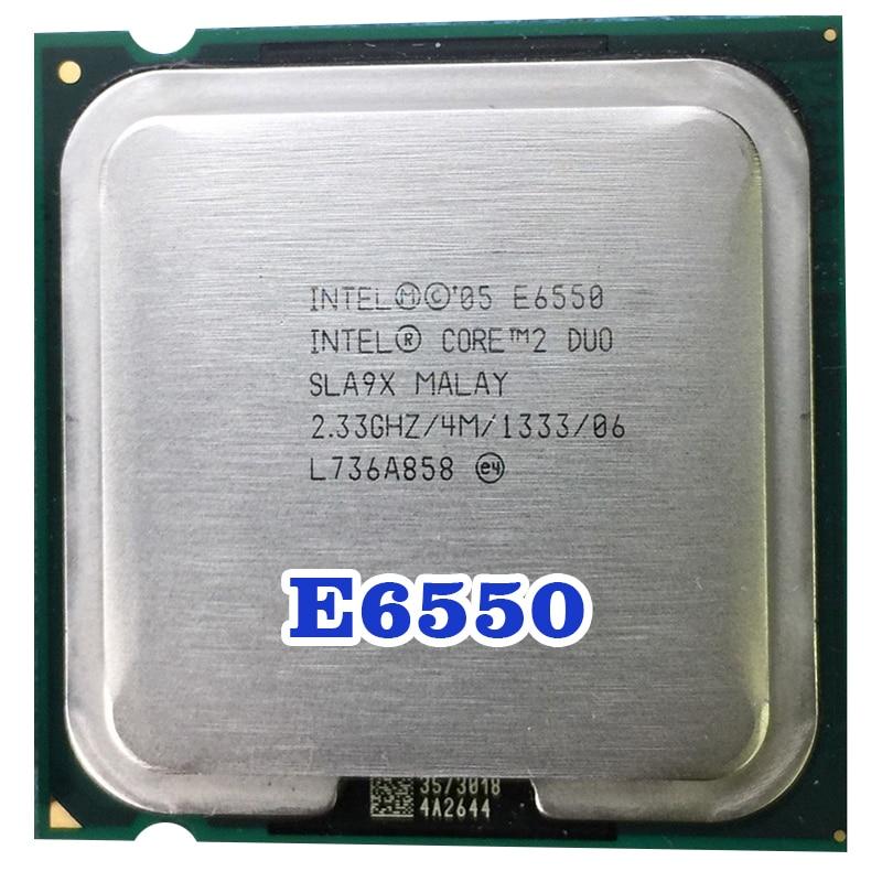 Original INTEL  Core 2 Duo E6550  CPU RSocket  LGA 775  Pocessor (2.33Ghz/ 4M /1333MHz) 65W Desktop