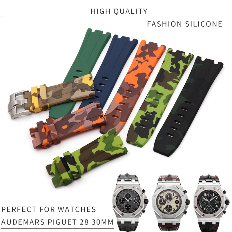 28/30mm Top Quality Silicone Rubber Watch Strap Fashion Sport Watchband Bracelets Suitable for AUDEMARS PIGUET Watch Accessories