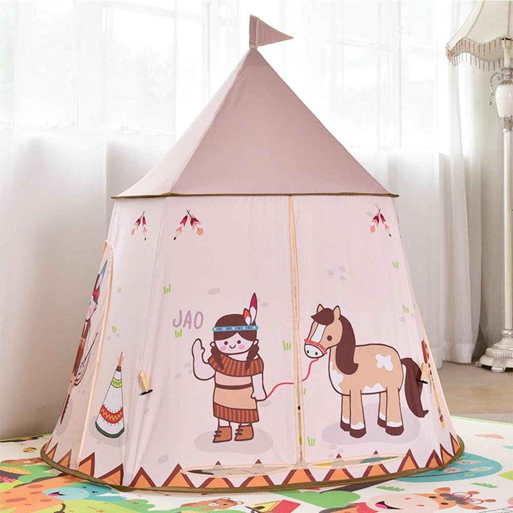 Детская игровая палатка YARD, портативный открытый замок принцессы для детей, палатка для дома с прорезями, подарок на день рождения и рождество для детей|Игровые палатки|   | АлиЭкспресс