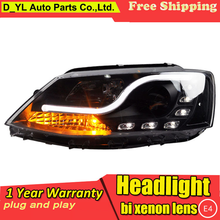 Car Styling For VW Jetta 2012 2015 led headlights Led for Jetta head lamp Angel eye