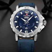 NAVIFORCE Топ бренд для мужчин спортивные часы водонепроницаемый аналоговые кварцевые часы для мужчин s 3D Якорь кожа неделя Дата Часы Relogio Masculino