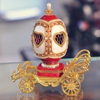 Royal egg carving cutout carriage photo frame music box musica box birthday gift romantic wedding gifts