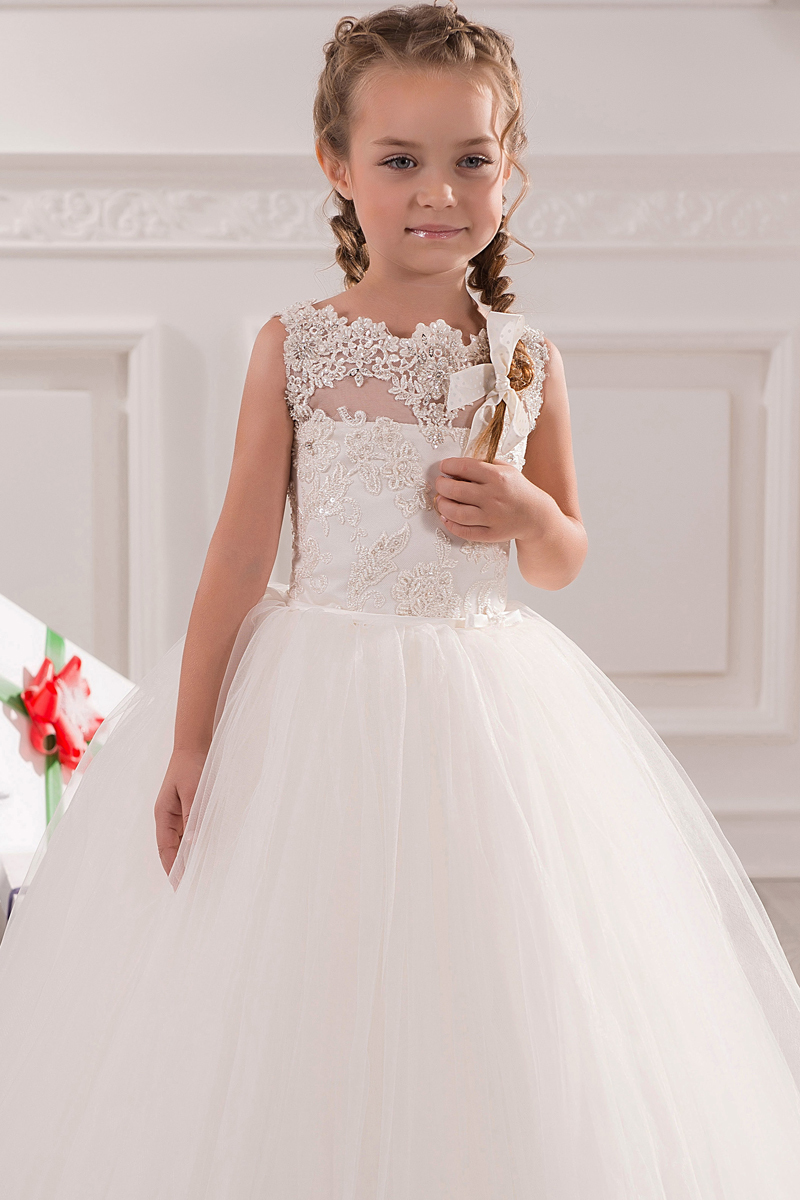 White Ivory First Communion Dresses Cute Little Girls pageant ...