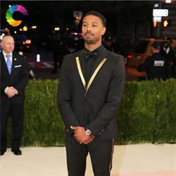 Формальные Cerenony индивидуальный заказ черные мужские костюмы с брюки для девочек золотой нагрудные 2 шт. Best человек пиджаки женщин куртка Slim