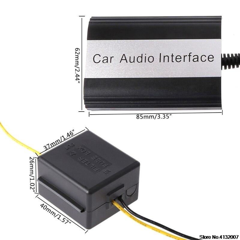 Kit mains libres Bluetooth pour voiture Interface adaptateur MP3 AUX pour Mazda 3 5 6 RX8 SPD 828 Promotion - 5