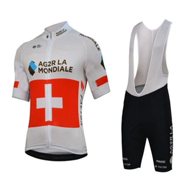 2018 AG2R Zwitzerland SUISSE Team cycling jersey perfect cross training  road ride Mountain country mountain biking mx Ciclismo eee3c386b
