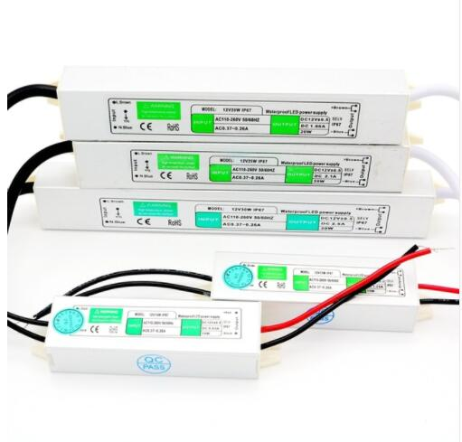 Led driver waterproof IP67 AC/DC 220V to 12V Power Supply Transformer 10W/15w/20W/30W/45W/60W/80W for led strip Light Lamp